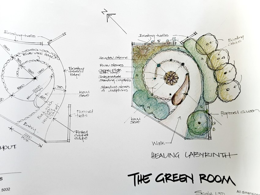Feng shui case study labyrinth design kapiti for Room design kapiti