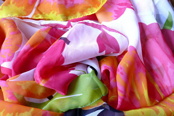 Beautiful, colourful scarves are a lovely way to add vibrancy to your Feng Shui home