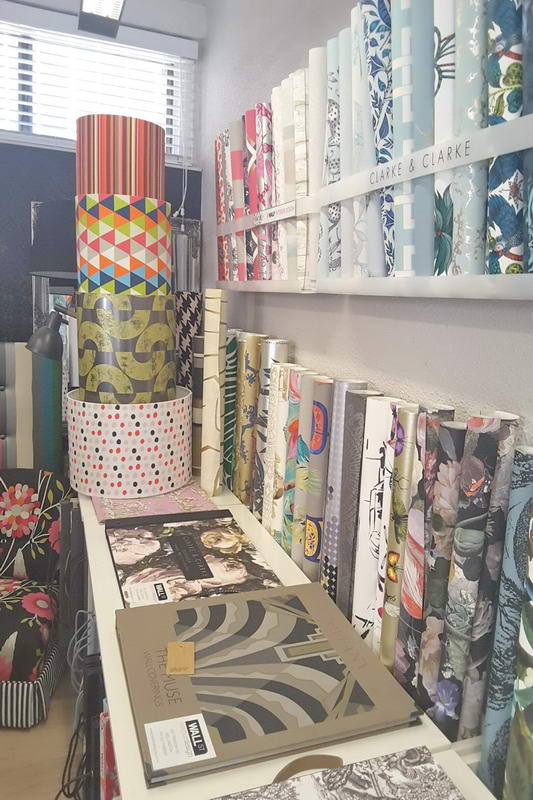 Wall St Designs Interior Inspiration2 fabric samples
