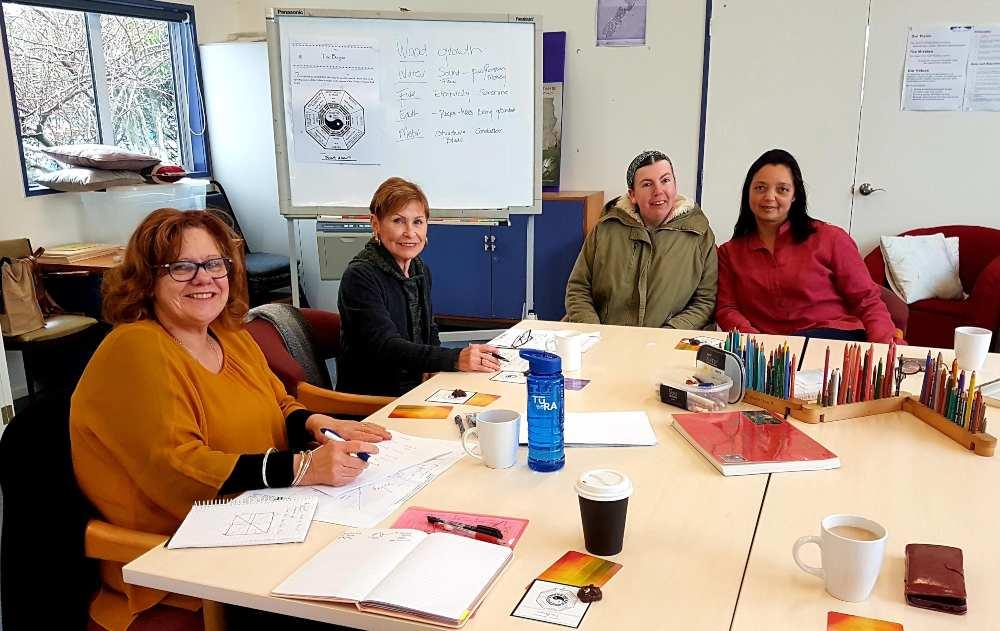 feng shui course - 4 women at Kapiti Womens Centre education class